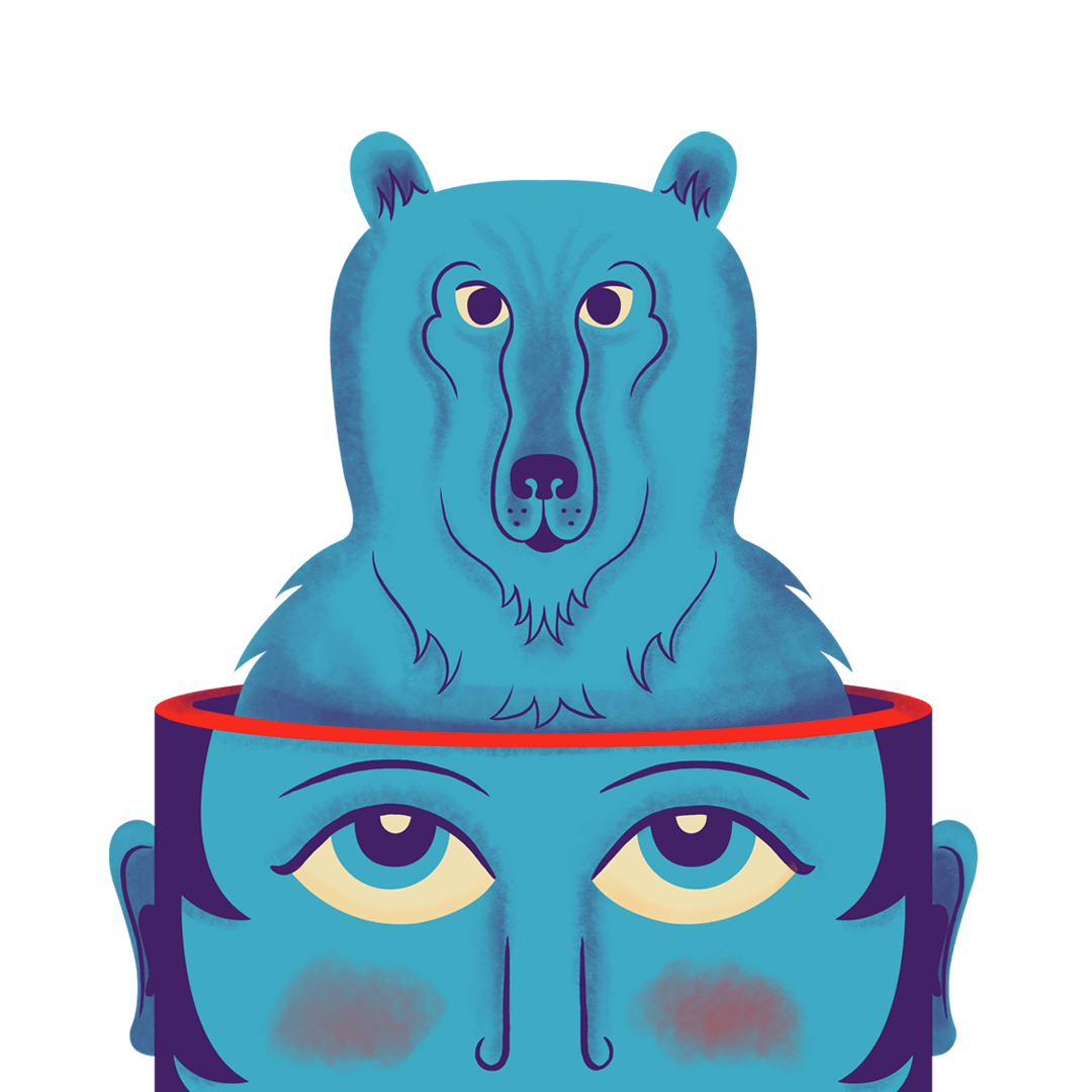 Bear Illustration from the Creative Space Journal